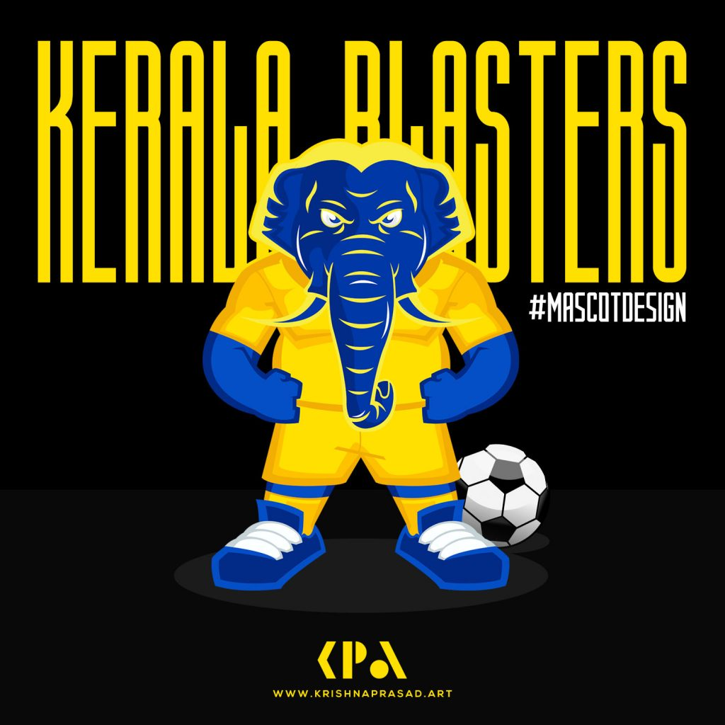 Kerala Blasters Mascot Design